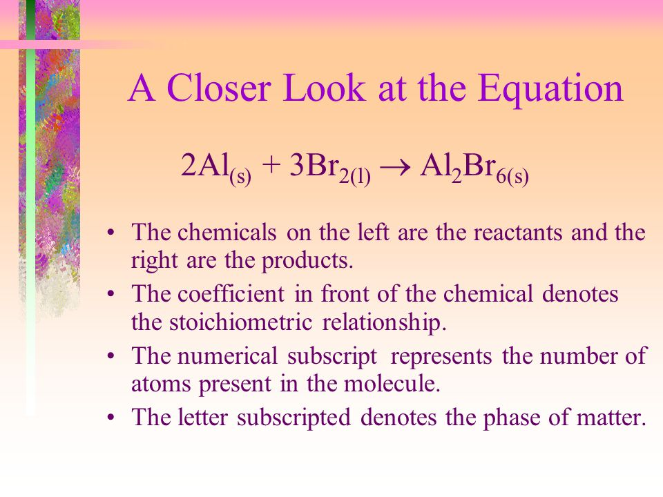 A Closer Look at the Equation