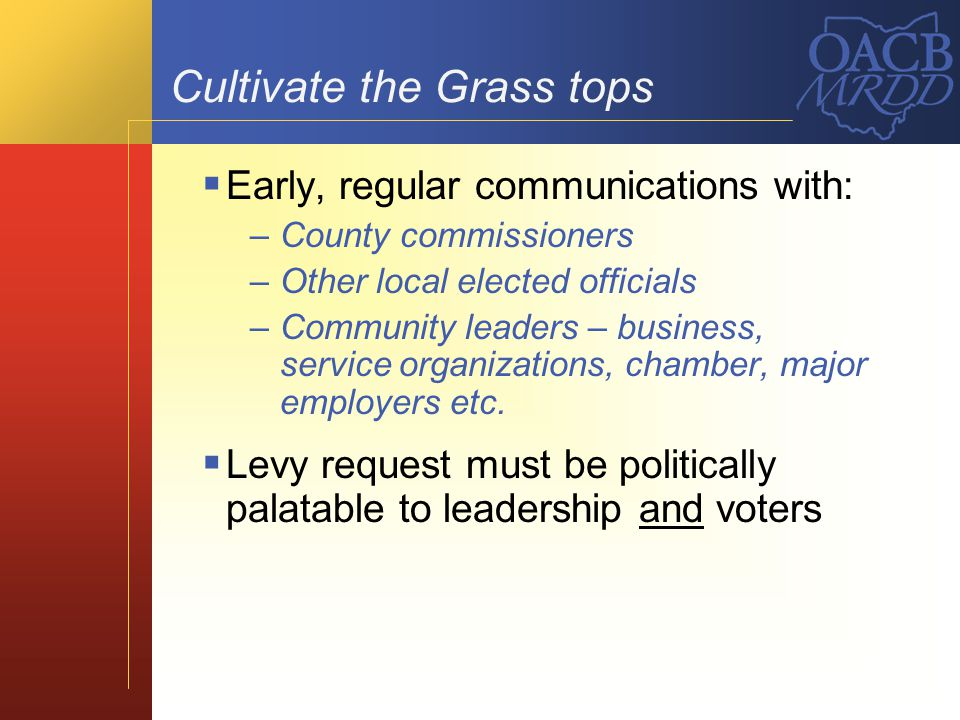 Cultivate the Grass tops