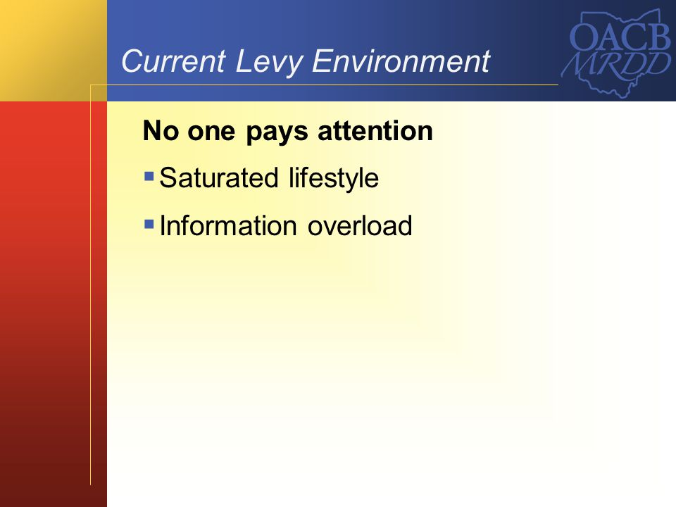 Current Levy Environment