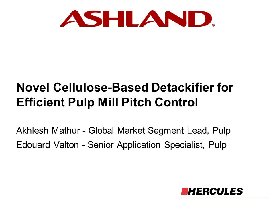 Novel Cellulose-Based Detackifier for Efficient Pulp Mill Pitch Control