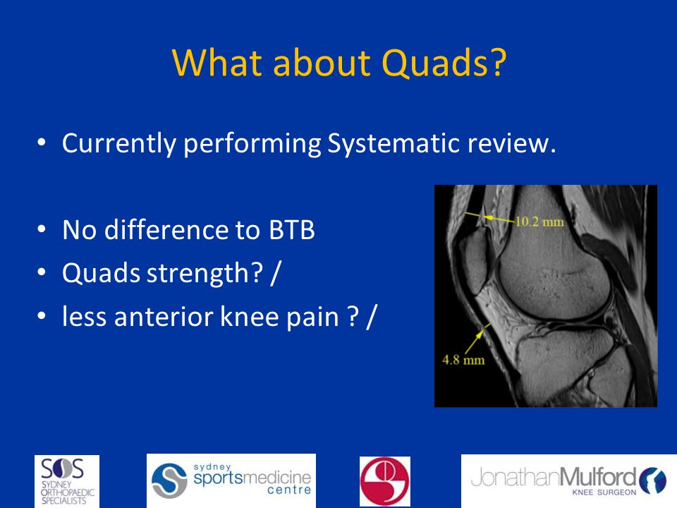 What about Quads Currently performing Systematic review.