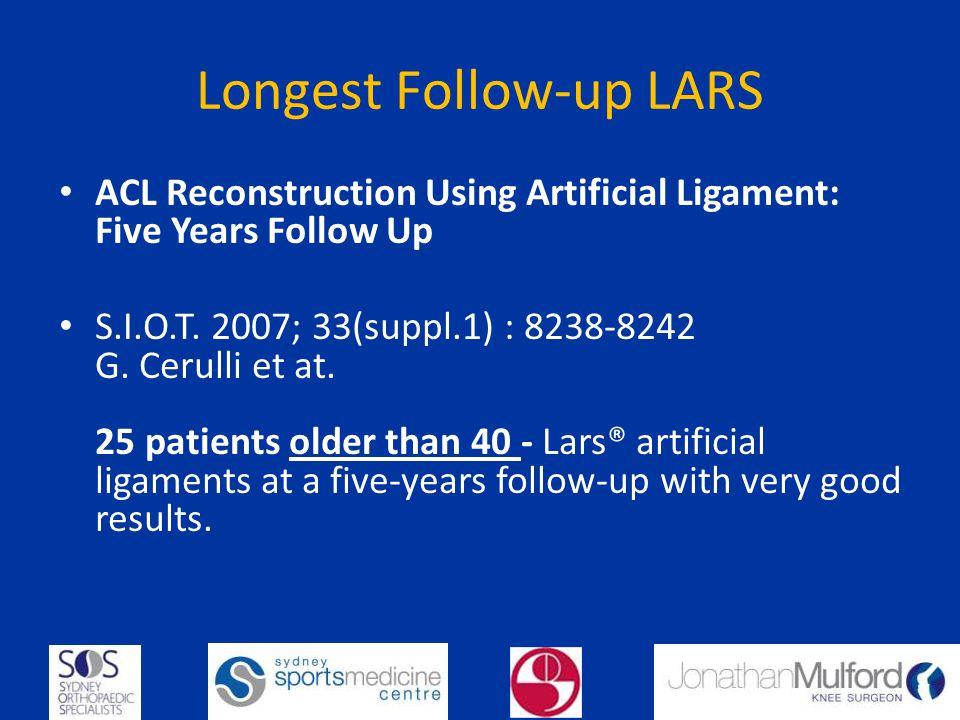 Longest Follow-up LARS