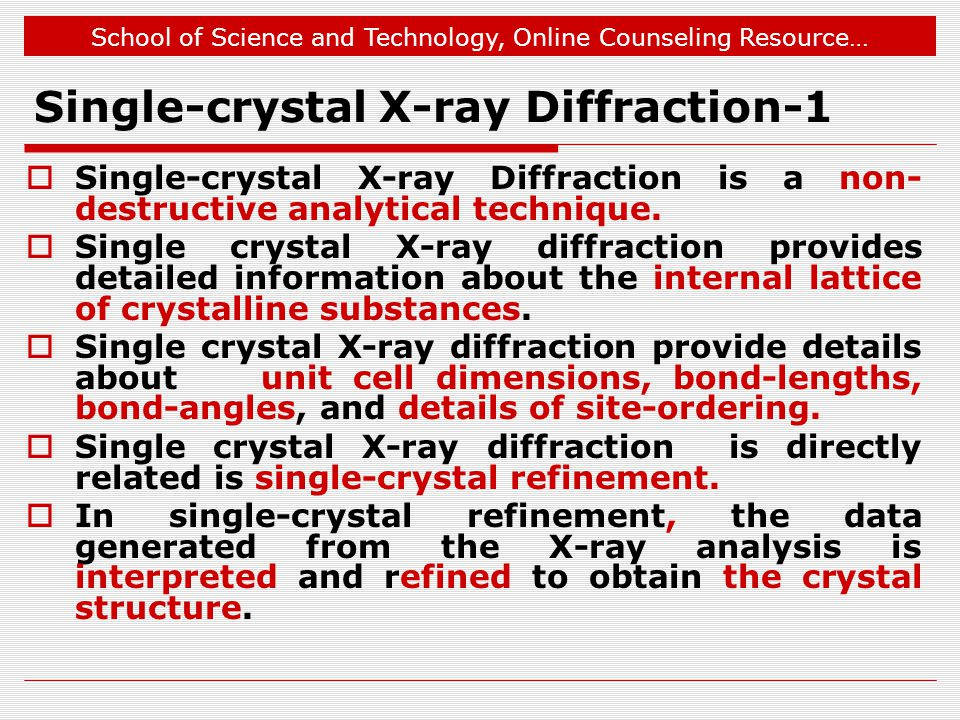 Single-crystal X-ray Diffraction-1