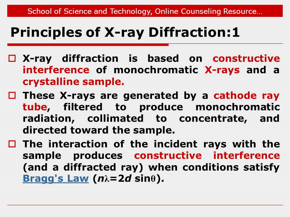 Principles of X-ray Diffraction:1