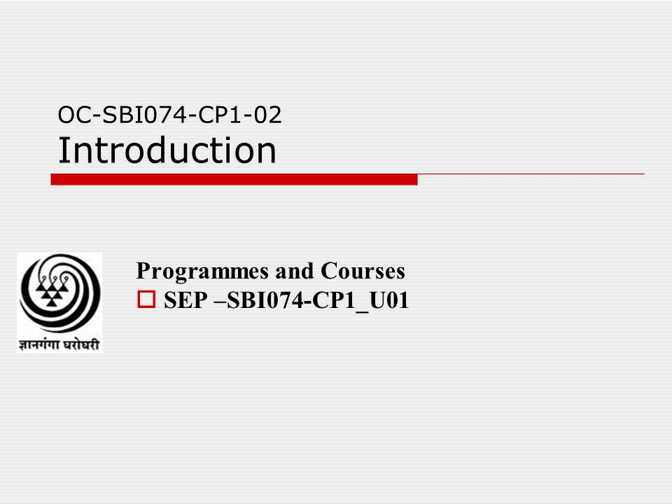 OC-SBI074-CP1-02 Introduction