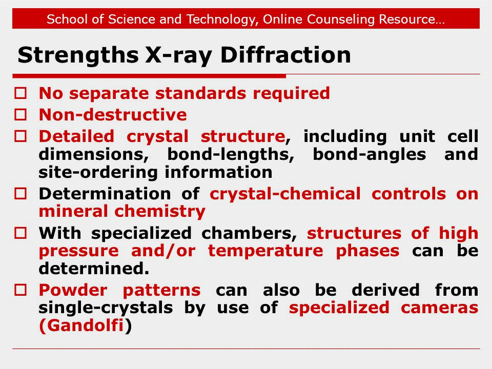 Strengths X-ray Diffraction