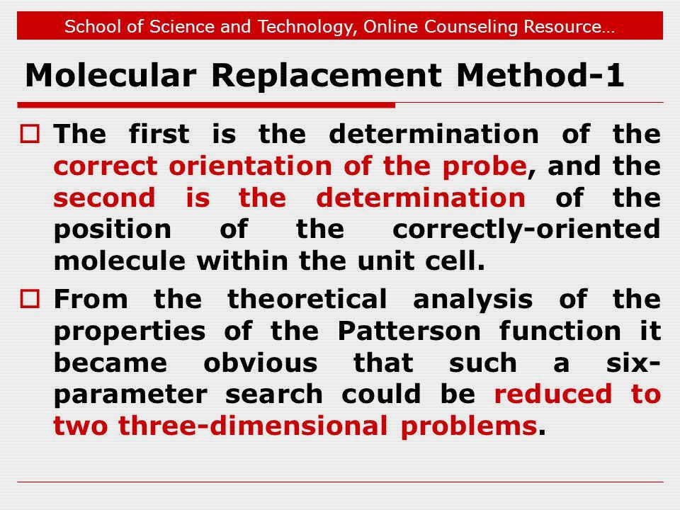 Molecular Replacement Method-1