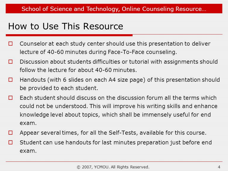How to Use This Resource