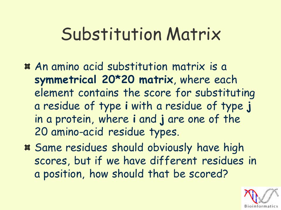 Substitution Matrix