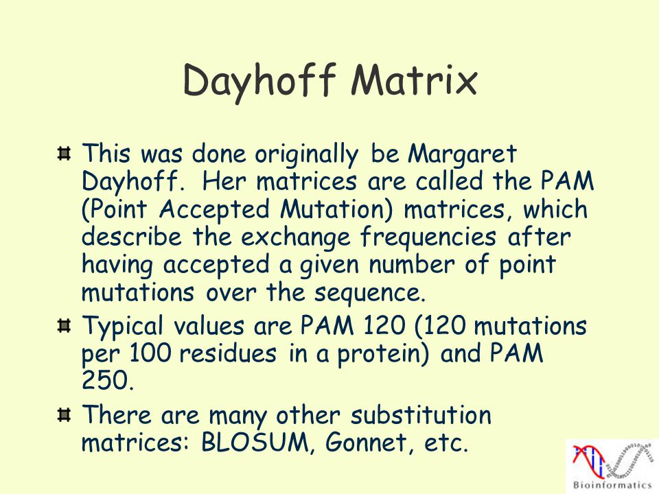 Dayhoff Matrix