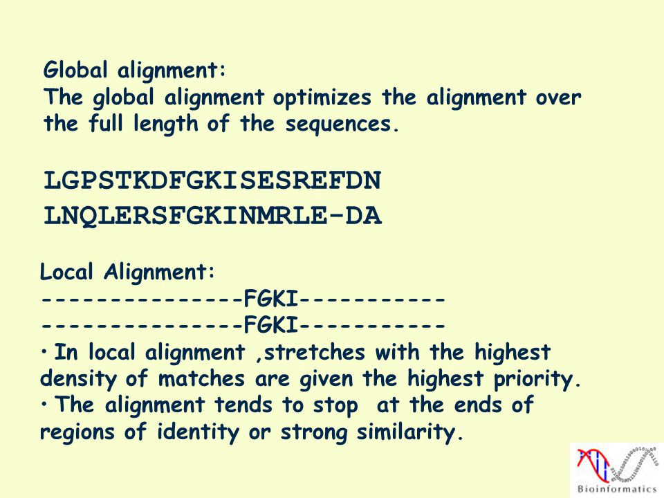 LGPSTKDFGKISESREFDN LNQLERSFGKINMRLE-DA Global alignment: