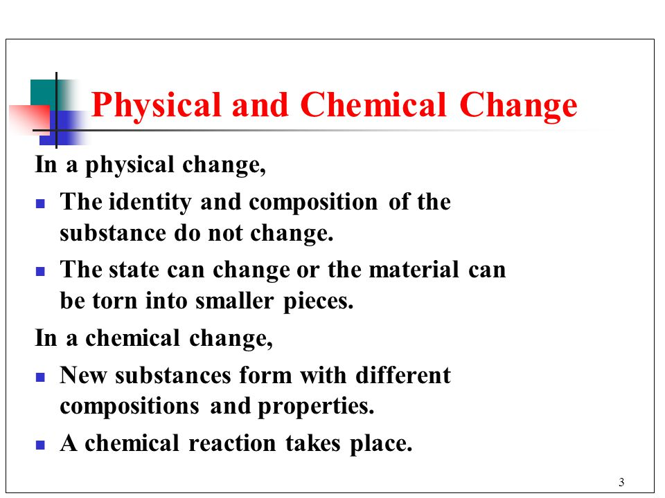 physical and chemical change essay question Chemical and hazardous materials safety physical hazards (fire, explosion) the answer to this question requires.
