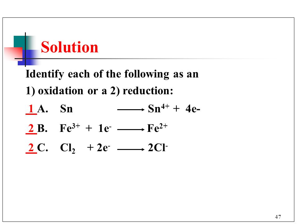 Solution Identify each of the following as an