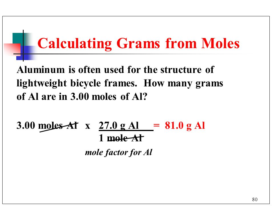 Calculating Grams from Moles