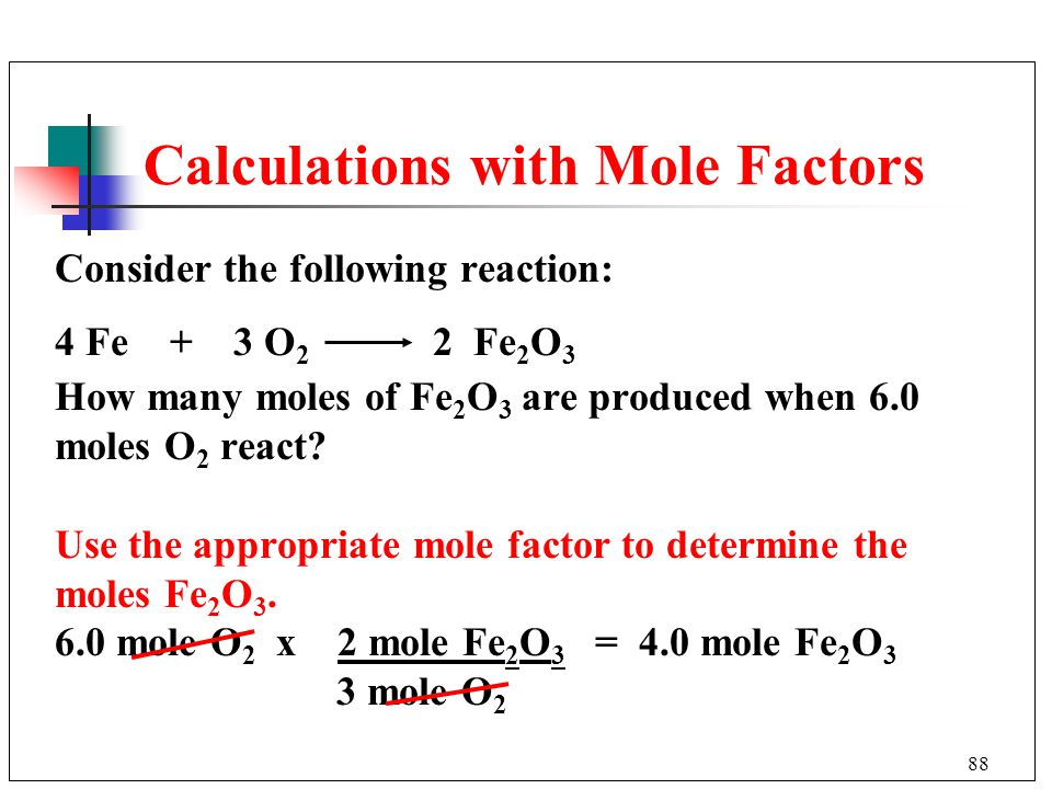 Calculations with Mole Factors