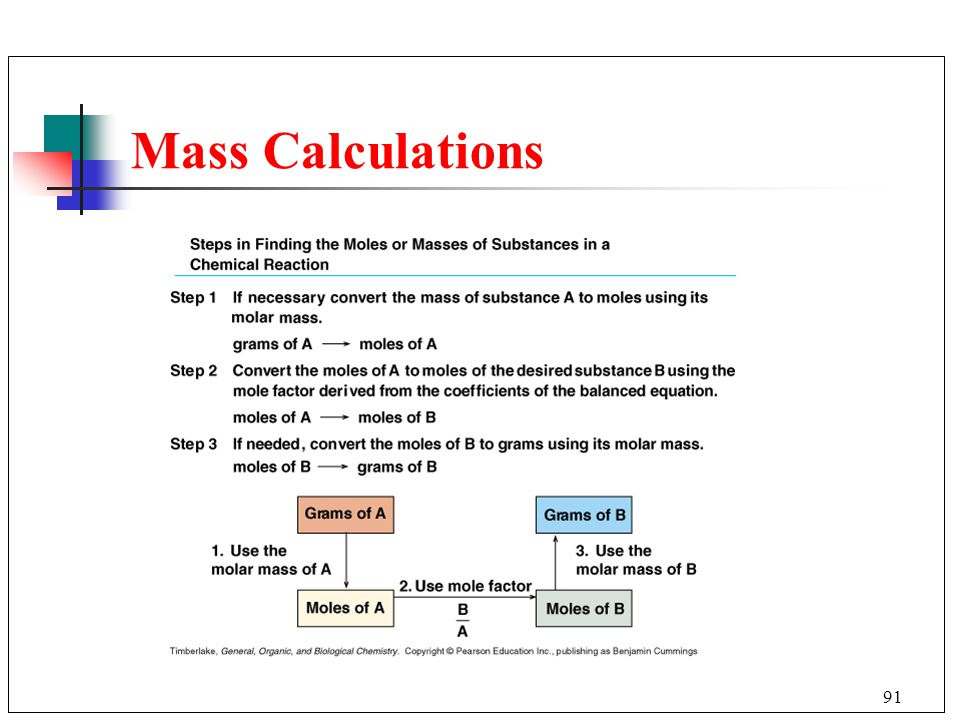 Mass Calculations