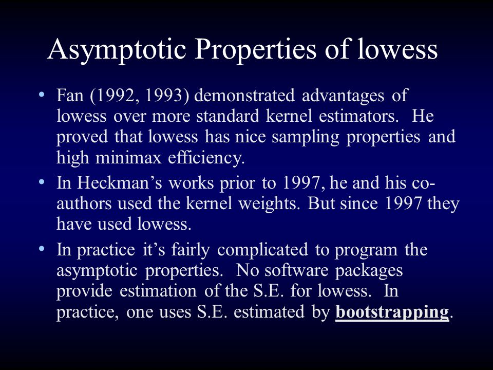Asymptotic Properties of lowess