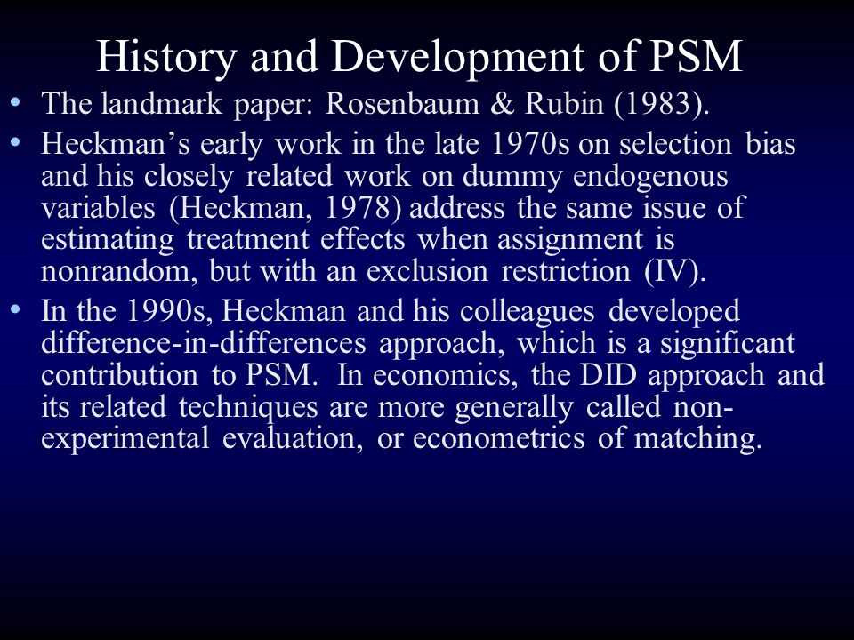 History and Development of PSM