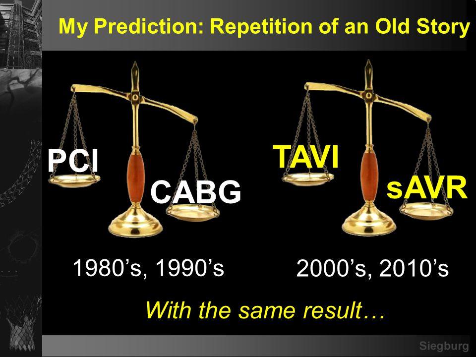 Transcatheter AVR My Rosey Prophecy