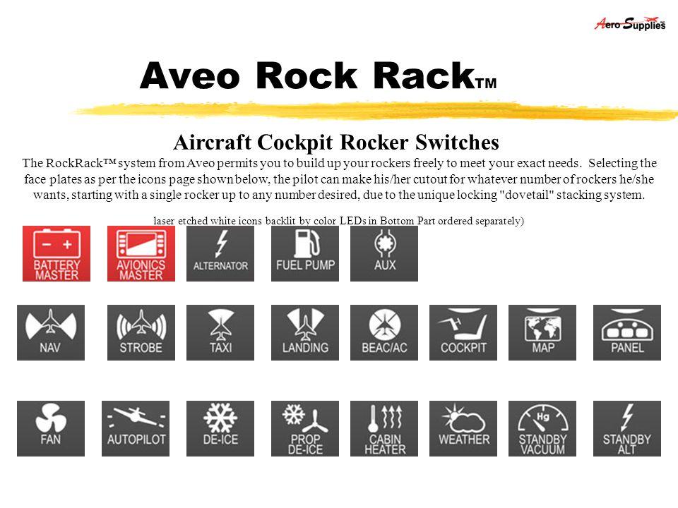 Aircraft Cockpit Rocker Switches