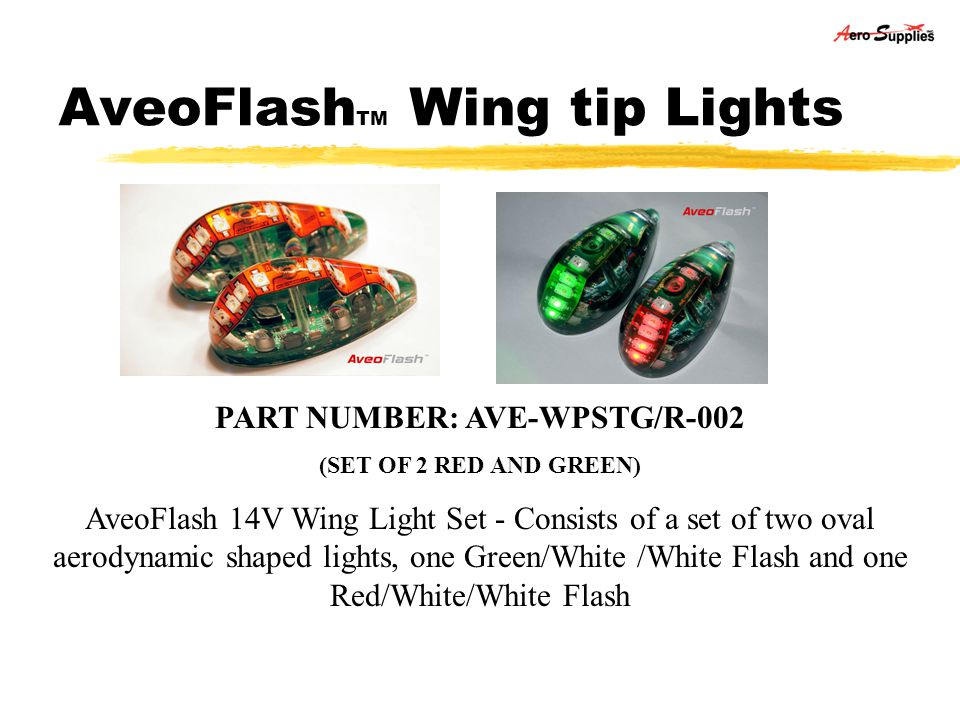AveoFlashTM Wing tip Lights