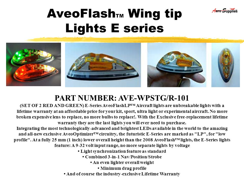 AveoFlashTM Wing tip Lights E series