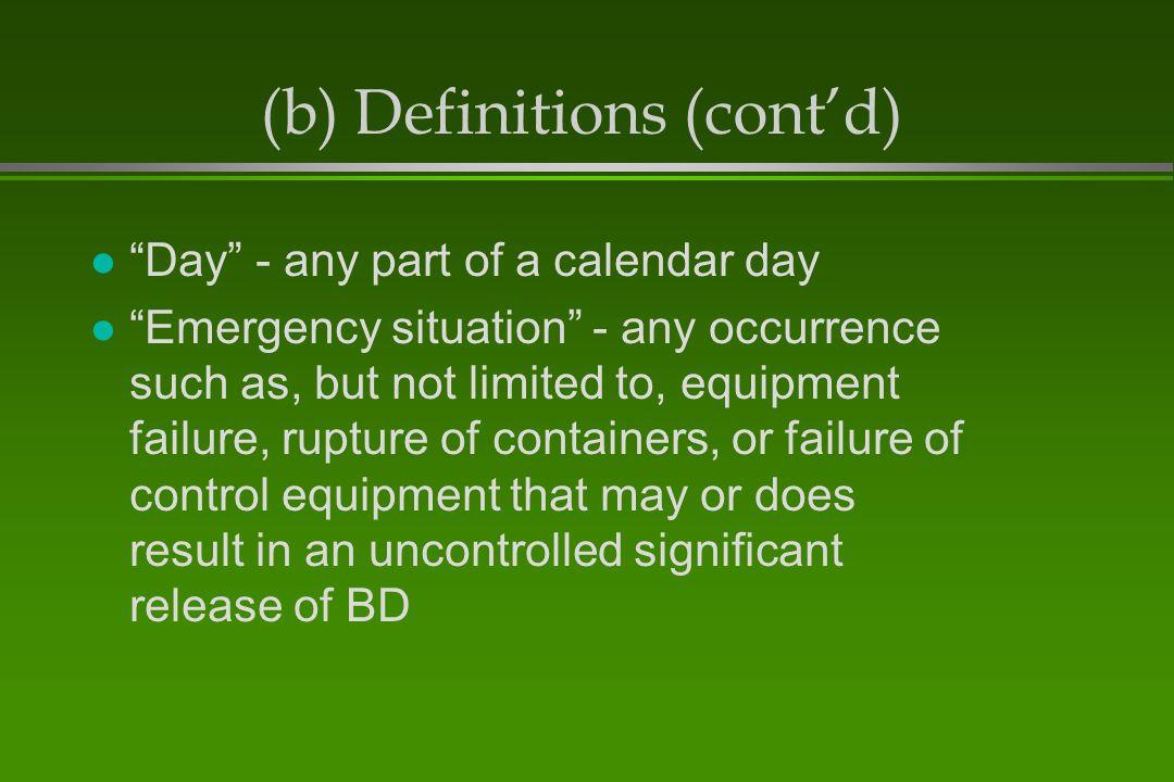 (b) Definitions (cont'd)