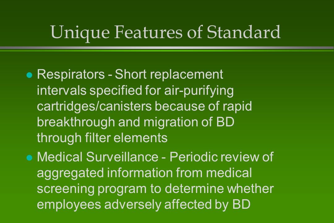 Unique Features of Standard