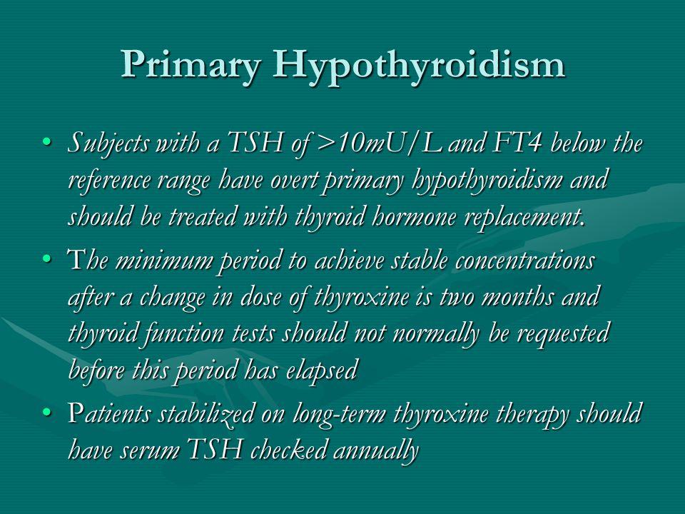 Primary Hypothyroidism