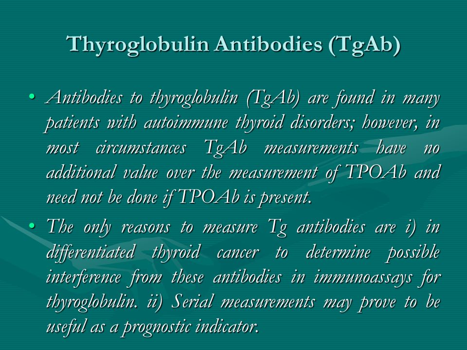 Thyroglobulin Antibodies (TgAb)