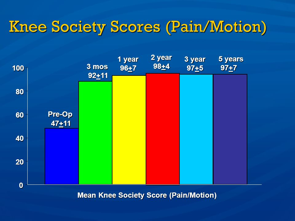 Knee Society Scores (Pain/Motion)