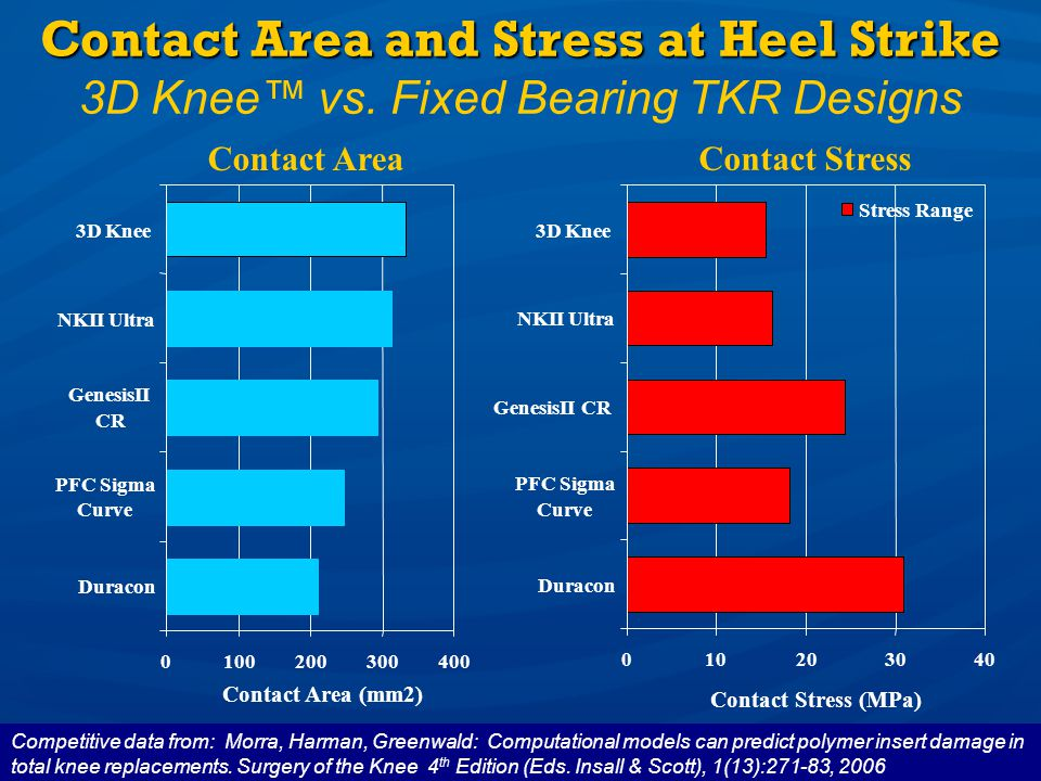 Contact Area and Stress at Heel Strike