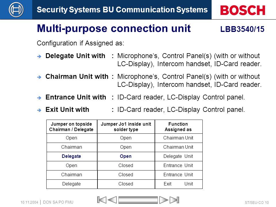 Multi-purpose connection unit LBB3540/15