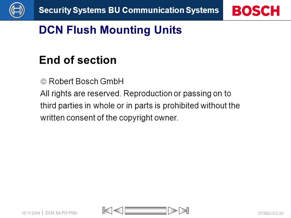 DCN Flush Mounting Units