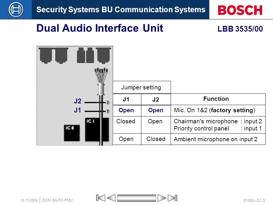 Dual Audio Interface Unit LBB 3535/00