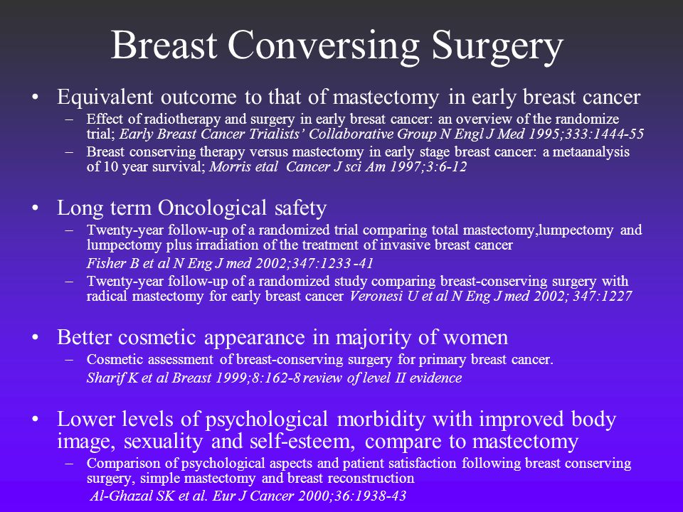 Breast Conversing Surgery