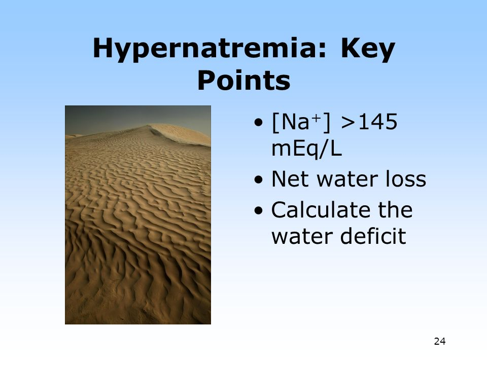 Hypernatremia: Key Points