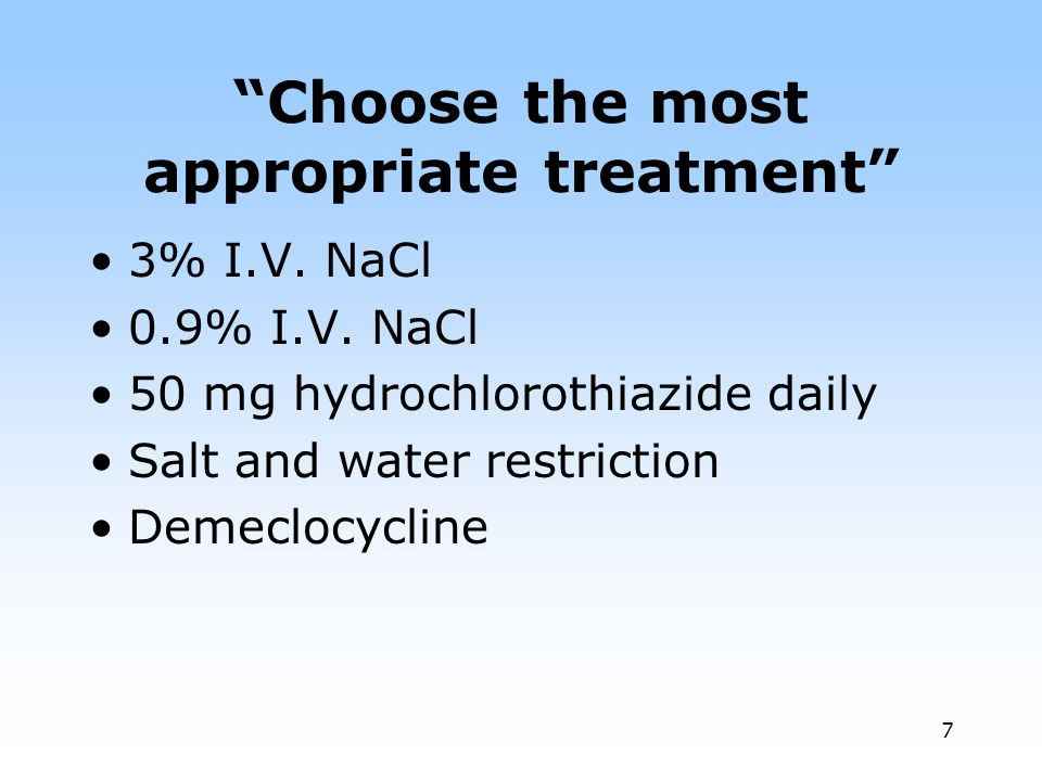 Choose the most appropriate treatment