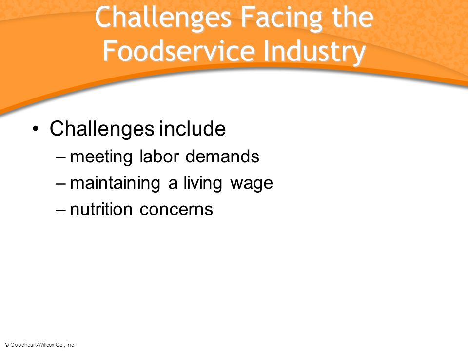 Challenges Facing the Foodservice Industry