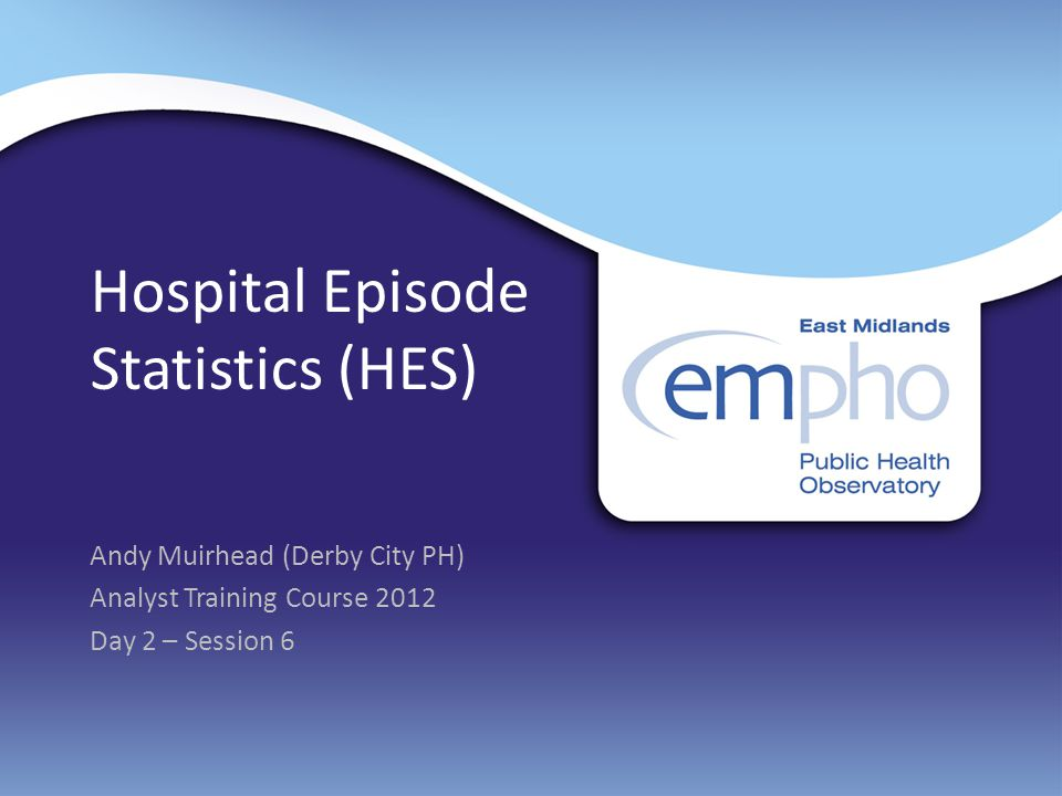 Hospital Episode Statistics (HES)