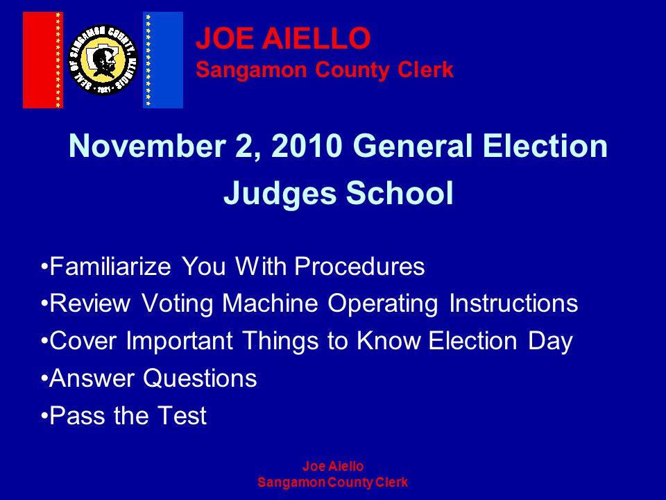 November 2, 2010 General Election