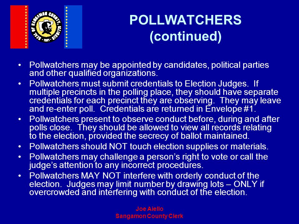 POLLWATCHERS (continued)