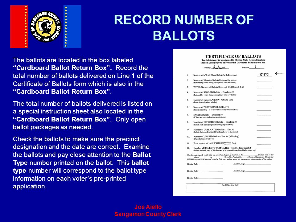 RECORD NUMBER OF BALLOTS
