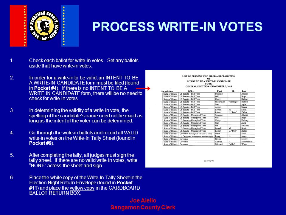 PROCESS WRITE-IN VOTES