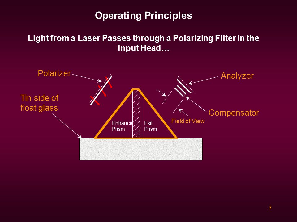 Operating Principles Light from a Laser Passes through a Polarizing Filter in the Input Head…