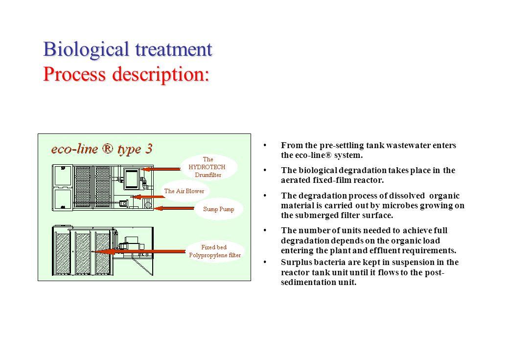 Biological treatment Process description: