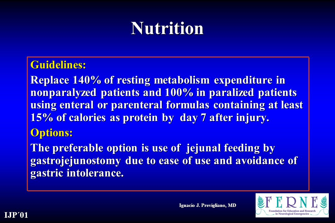 Nutrition Guidelines: