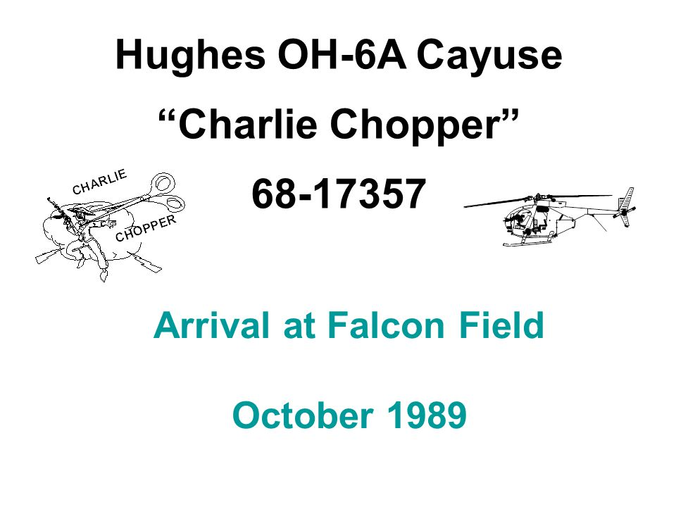 Arrival at Falcon Field October 1989