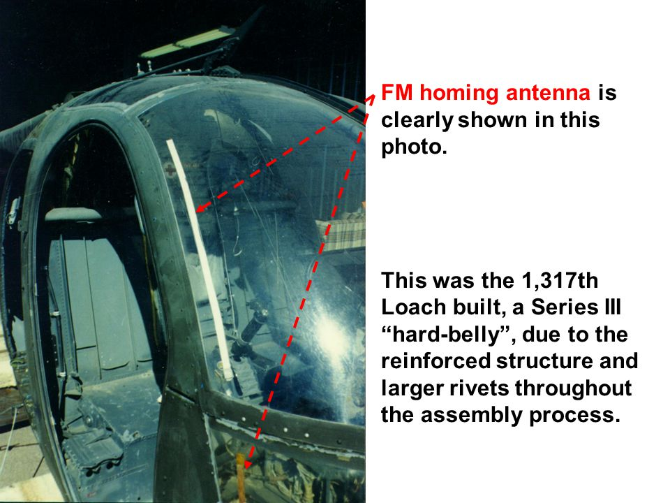 FM homing antenna is clearly shown in this photo