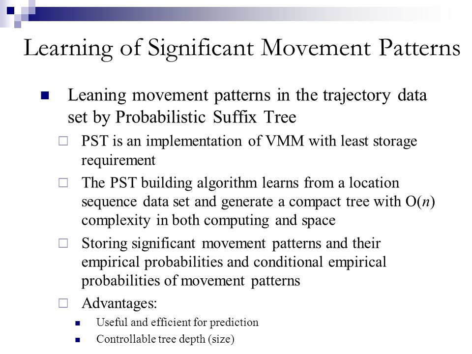 Learning of Significant Movement Patterns